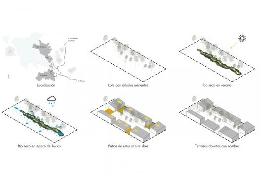 Plaza Andaro construida con desechos ferroviarios por CANO VERA Arquitectura. Fuente_ Rafael Gamo