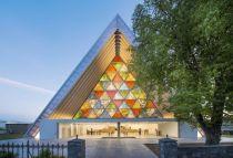 Catedral anglicana de Christchurch construida en Nueva Zelanda por Shigeru, Ban