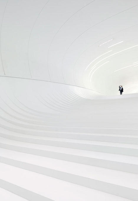 Ganador: centro cultural Herdar Aliyev (Bakú, Azerbayán). Categoría: interiores. Arquitecto: Zaha Hadid. Foto de Hufton + Crow.
